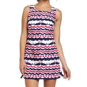 Lilly Pulitzer Whales Tail Delia Pink Dress 10 M